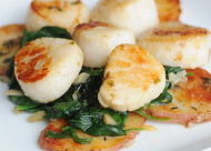 sea scallops with asparagus sauce