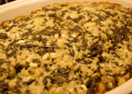 spinach gratin with cheese